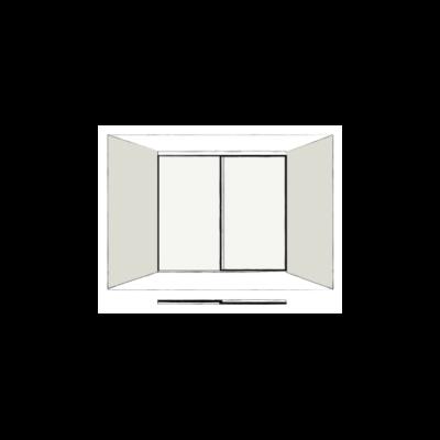 2 Door Full Length - sliding wardrobe doors
