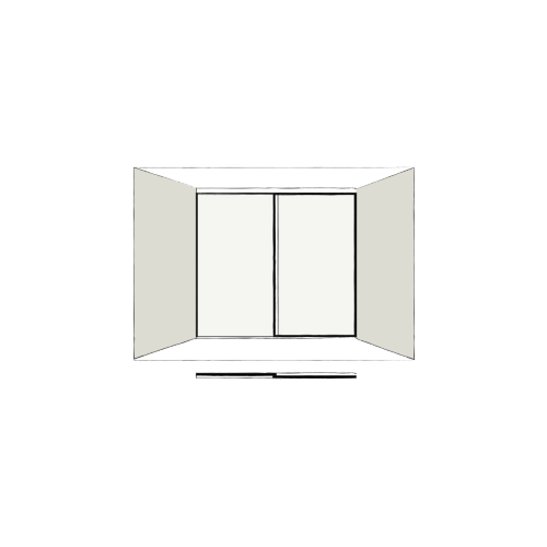 2 Door Full Length - sliding wardrobe doors
