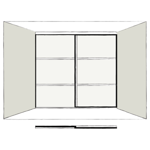2 Door Orienta - sliding wardrobe doors