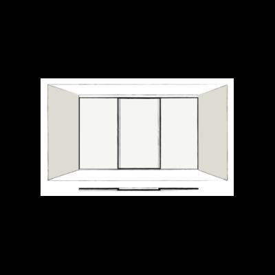 3 door full length - sliding wardrobe doors