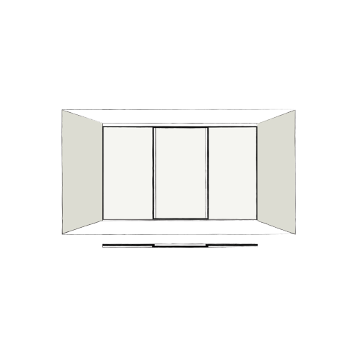 3 door full length - sliding wardrobe doors