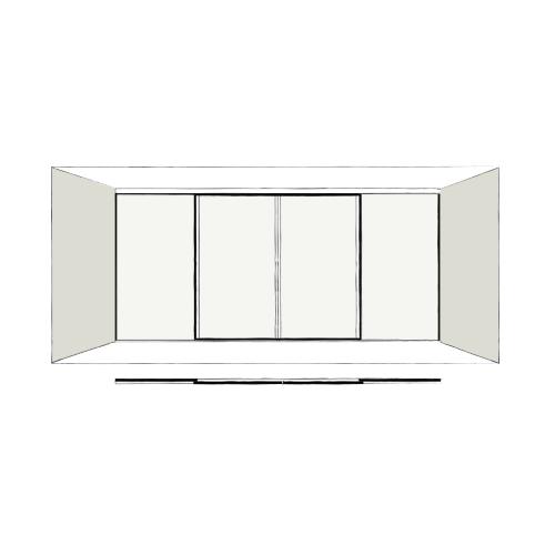 4 Door Full Length - sliding wardrobe doors