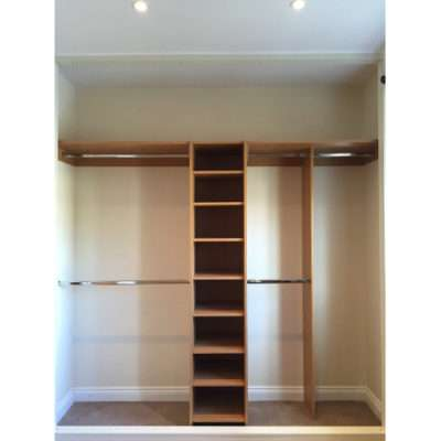 stay organised with sliding wardrobe doors