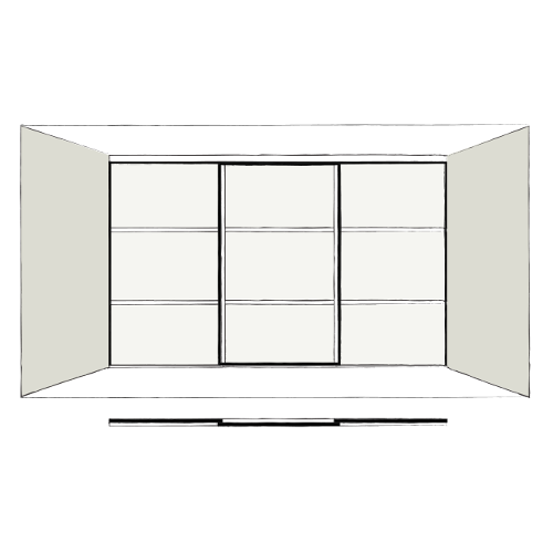 3 Door Oriental - sliding wardrobe doors