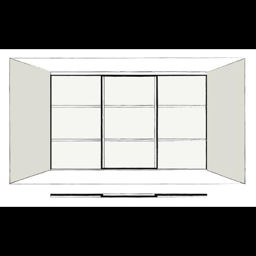 3 Door Oriental - sliding wardrobe doors
