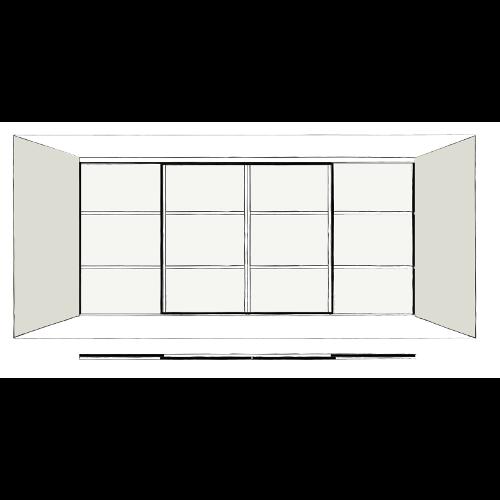 4 Door Oriental - sliding wardrobe doors