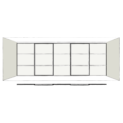 5 Door Oriental - sliding wardrobe doors