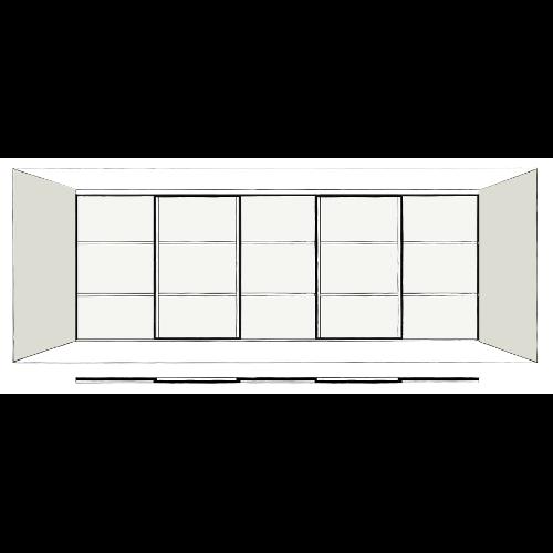 5 Door Oriental - sliding wardrobe doors